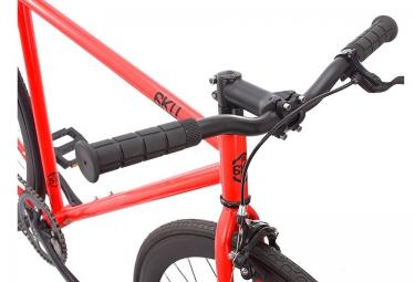 6KU Vélo Complet Fixie CAYENNE Rouge Noir