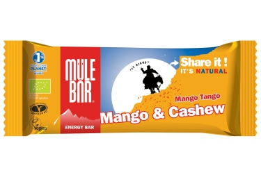 MULEBAR Barre Energétique MANGO TANGO (Mangue-Noix de cajou) 40g