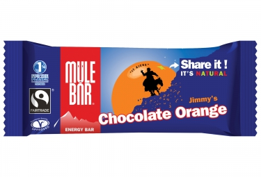 MULEBAR Barre Energétique CHOCOLAT ORANGE 40g
