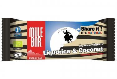 MULEBAR Barre Energétique LIQUORICE ALLSPORTS (Réglisse-Coco-Feno) 40g