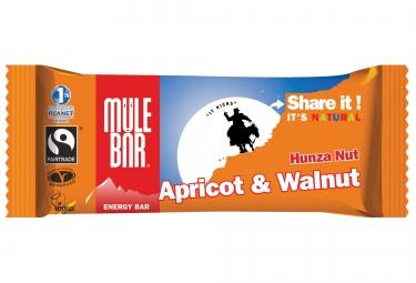 MULEBAR Barre Energétique HUNZA NUT (Abricot-Noix) 40g
