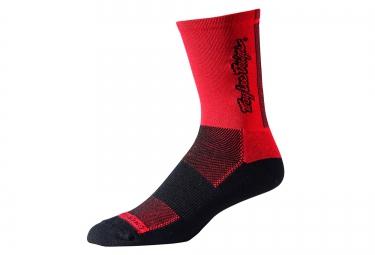 TROY LEE DESIGNS Paire de Chaussettes ACE PERFORMANCE CREW Rouge Noir