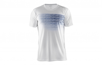 CRAFT T-Shirt Homme MIND Blanc Motif