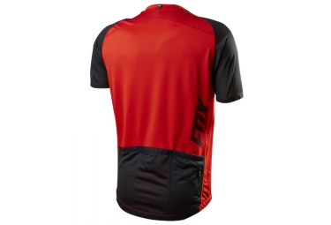 FOX Maillot Manches Courtes AIRCOOL ZIP Rouge
