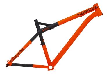 NS BIKES Cadre Rigide ECCENTRIC ALU 26´´ - 27.5´´ Orange Noir