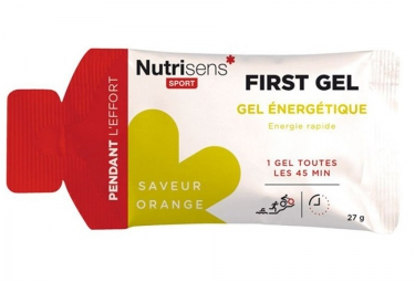 NUTRISENS Gel énergétique FIRST Orange 27g