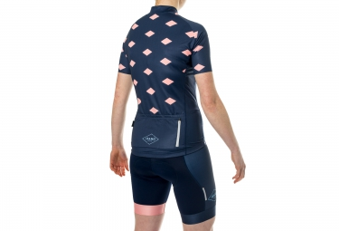 ISANO Maillot Manches Courtes Femme LIMITED TRIBUTE ICC Bleu Saumon