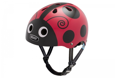 Casque Bol Enfant NUTCASE LITTLE NUTTY Rouge Noir