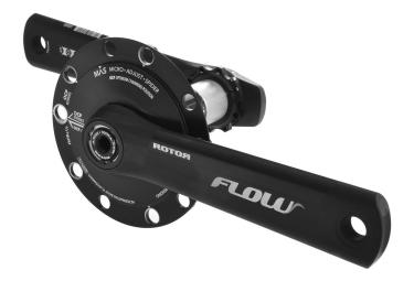 Pédalier avec Capteur de Puissance ROTOR INPOWER FLOW MAS Entraxe 110 mm Noir