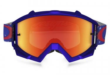 Masque Oakley PROVEN MX TROY LEE DESIGNS Jaune Bleu