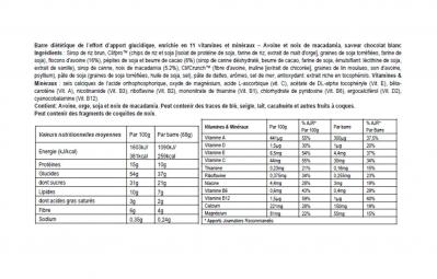 CLIF BAR 5 Barres énergétiques Chocolat blanc Noix de macadamia