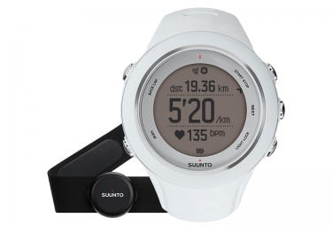 SUUNTO Montre GPS AMBIT3 SPORT HR Blanc + Ceinture cardiaque Smart Sensor