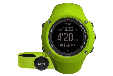 SUUNTO Montre GPS AMBIT3 RUN HR Lime + Ceinture cardiaque Smart Sensor