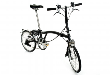 Vélo Pliant Brompton S6L 6 Vitesses 16'' Noir