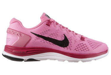 NIKE Chaussures LUNARGLIDE+ 5 Rose Femme