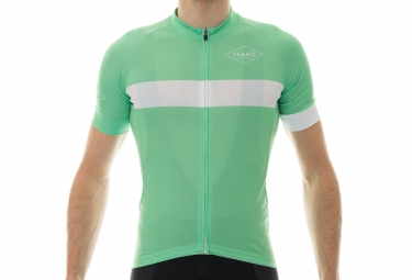Maillot Manches Courtes ISANO 2016 CLASSIQUE Vert Blanc