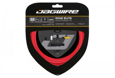 Kit Câbles Gaines de Freins Complet JAGWIRE ROAD ELITE SEALED Rouge