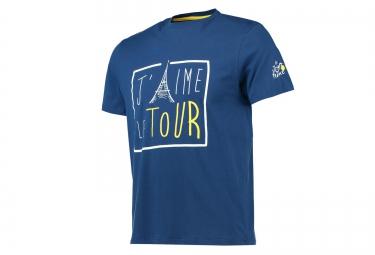 T-shirt LE TOUR DE FRANCE J´AIME LE TOUR Bleu