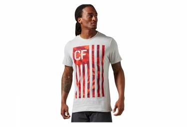 Maillot REEBOK CROSSFIT RCF FLAG Blanc Rouge