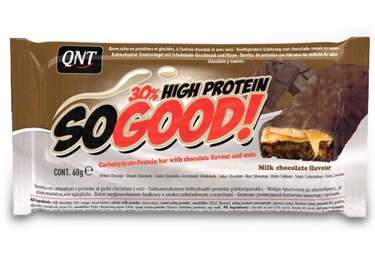 QNT Barre Hyperprotéinée SO GOOD Chocolat au lait Caramel 60gr
