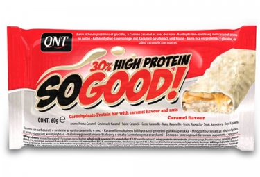 QNT Barre Hyperprotéinée SO GOOD Chocolat Blanc Caramel 60gr