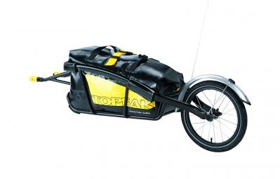 Porte bagage sur Roue TOPEAK JOURNEY TRAILER avec DryBag