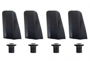 Caches et Visserie (X4) SPECIALITES TA pour Plateaux x110 DURA ACE 9000 Noir