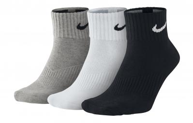 3 Paires de chaussettes LIGHTWEIGHT Gris/Blanc/Noir