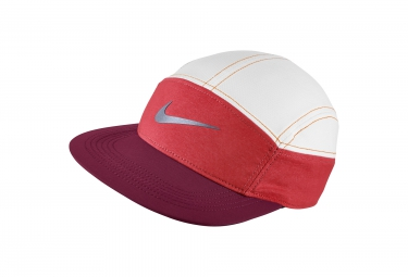 NIKE Casquette Réglable AW84 Rouge Blanc