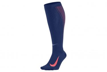 Paire de Chaussettes de compression NIKE ELITE LIGHTWEIGHT COMPRESSION Bleu Orange
