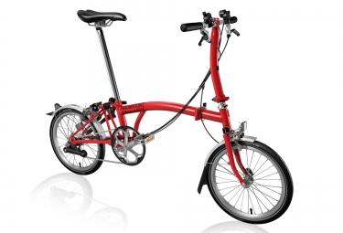 Vélo Pliant BROMPTON S6L 6 Vitesses Rouge