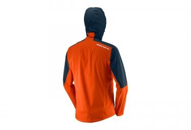 Veste Running Homme SALOMON BONATTI WP Orange/Bleu