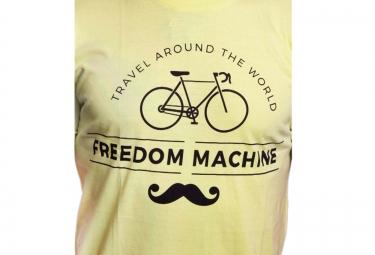 LeBram T-Shirt Freedom Machine Jaune