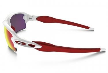 Lunettes Oakley Flak 2.0 Blanc/Rouge Rouge Prizm H2O