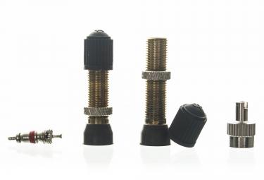 NO FLATS JOE´S Paire de Valves Tubeless Schrader 36 mm (Auto)