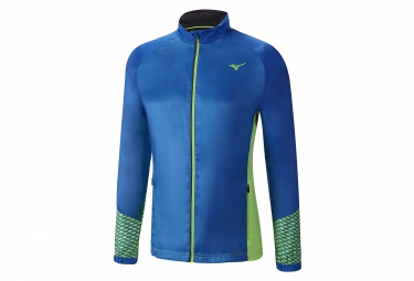 Veste Coupe-Vent Déperlant MIZUNO BREATH THERMO Bleu Vert