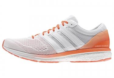 adidas running ADIZERO BOSTON 6 Blanc Orange Homme