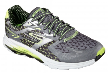 SKECHERS GO RUN RIDE 5 Grey Yellow