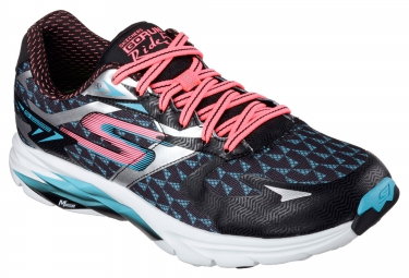 SKECHERS GO RUN RIDE 5 Black Pink Blue Women