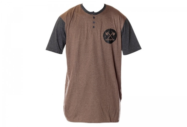 T-Shirt DEMOLITION HENLEY Marron Gris