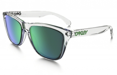 Lunettes OAKLEY FROGSKINS CRYSTAL COLLECTION Transparent - Vert Iridium Réf OO9013-A3