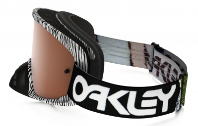 Masque Oakley O2 MX FINGERPRINT Noir Blanc