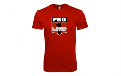 T-Shirt USA BMX PRO 1 SHIELD Rouge