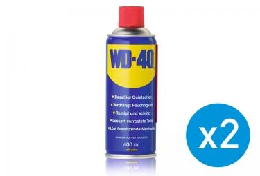 Pack de 2 Spray WD-40 Huile Lubrifiant Classique 400ml