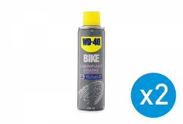 Pack 2 Spray WD-40 Lubrifiant Chaîne Toutes Conditions 250ml