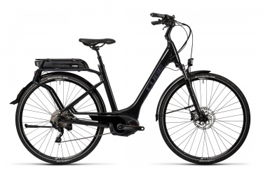 Vélo de Ville Electrique Femme Cube Touring Hybrid Pro 500 Easy Entry Shimano XT 10v Noir