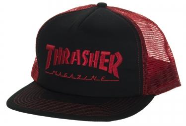 Casquette THRASHER MAG LOGO MESH Rouge Noir