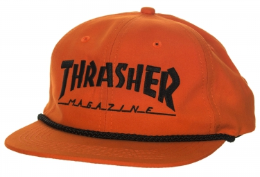 Casquette THRASHER ROPE SNAPBACK Orange Noir