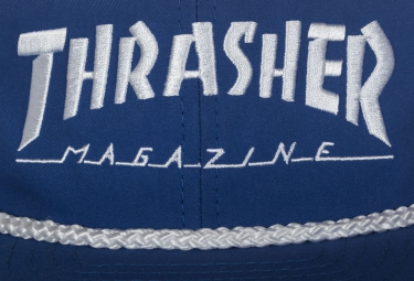 Casquette THRASHER ROPE SNAPBACK Bleu Blanc