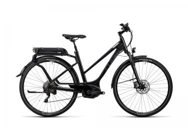 Vélo de Ville Electrique Femme Cube Touring Hybrid Pro 400 Shimano XT 10v Noir